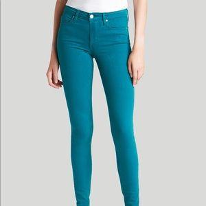High Waist Joe's teal skinny jeans